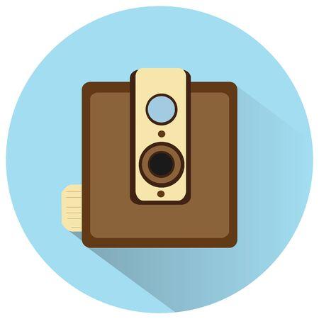 vdo: vintage film camera vector icon