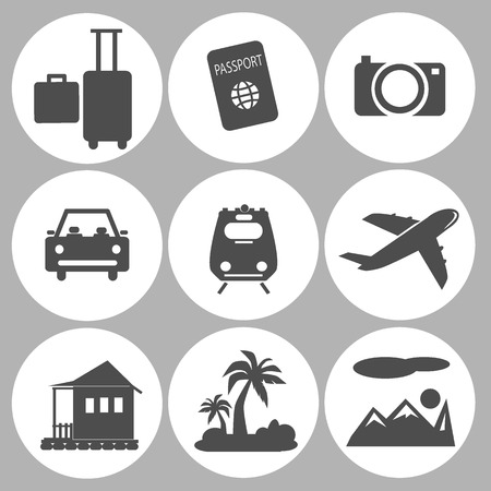 travel icon: toerisme pictogram