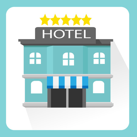 five star: five star hotel isolated Illustration