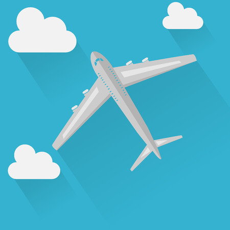 plane on sky icon Illustration