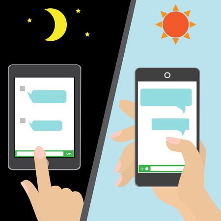 mobile application: Chat application on mobile Illustration