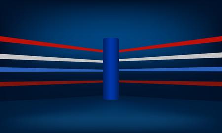 Blue Boxing Ring Corner vector illustration