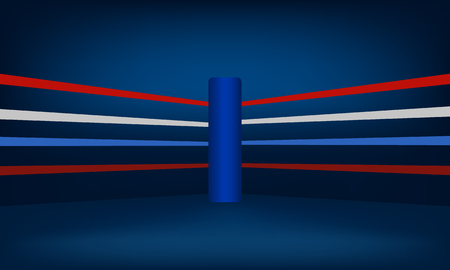 Blue Boxing Ring Corner vector illustration
