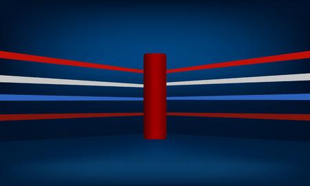 Red Boxing Ring Corner vector illustration