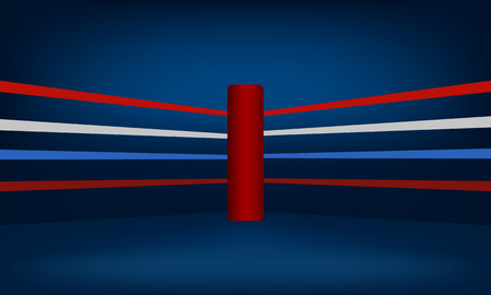 Red Boxing Ring Corner vector illustration
