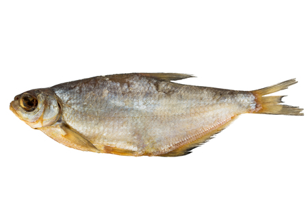 gill: smoked fish on a white background
