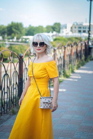 Portrait of woman fashionable lifestyle.