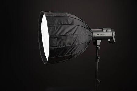 Modern round octobox, on black Фото со стока