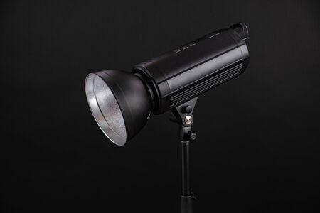 Head of studio flash strobe lamp light Фото со стока