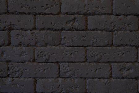The Rough black brick wall.