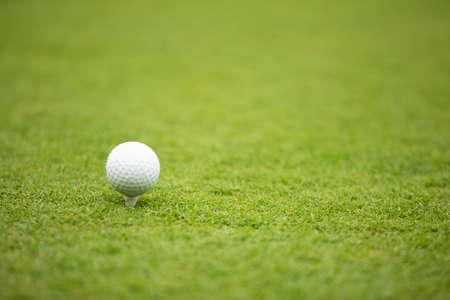 高尔夫球的例证在一个绿色草甸的