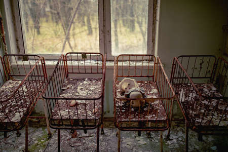 Neonatal ward in abandoned hospital of Pripyat city, Chernobyl Exclusion Zone, Ukraine