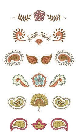 indian color symbol  Illustration