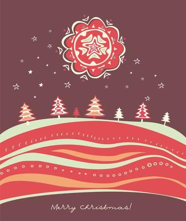 circular chain: christmas card  Illustration