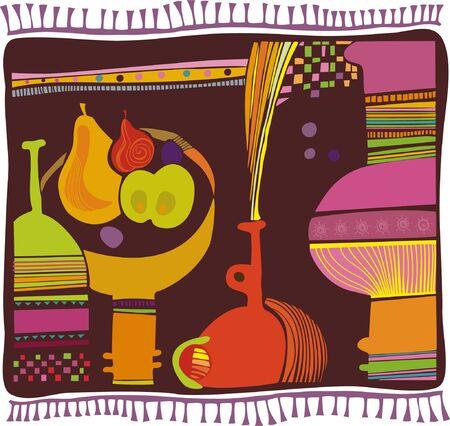 decorative design rug Stock Vector - 9931242