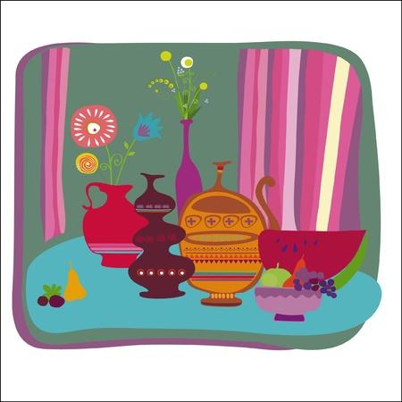 india food: still life  Illustration