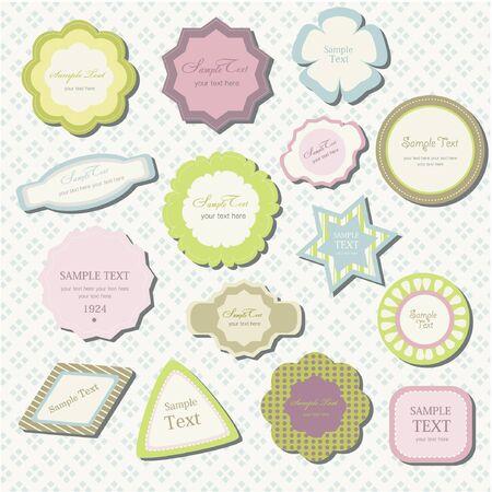 classical decoration element label
