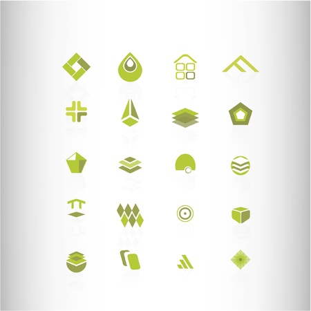 ellipses: green design element