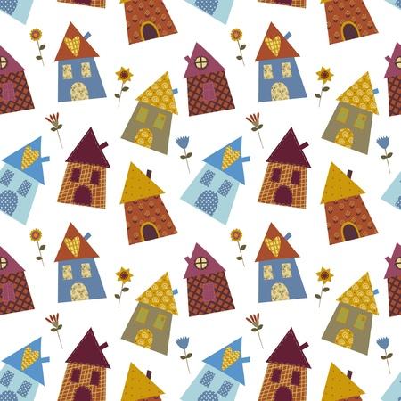 house multicolour pattern  Vector