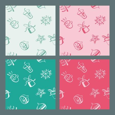 Colorful pattern wallpaper winter