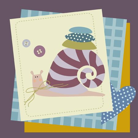 patchwork: snail patchwork Illustration