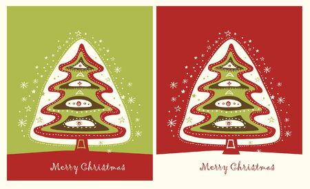 red green christmas trees