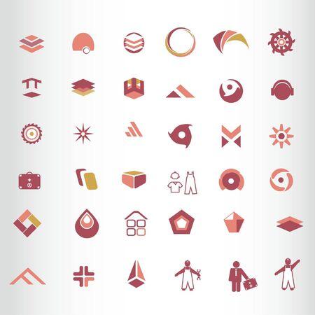 abstract design element  symbol Vector