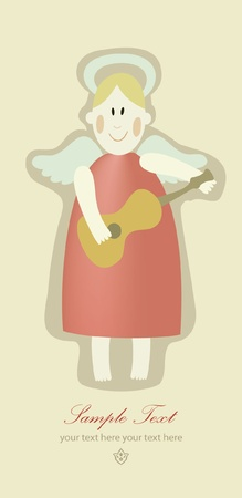 queen of angels: little angel greeting card  Illustration
