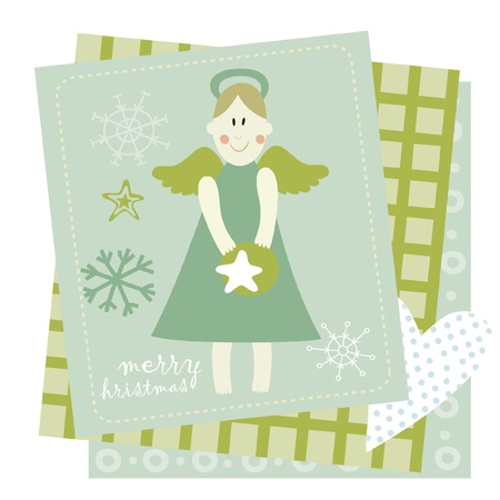 little princess greeting card  Vector