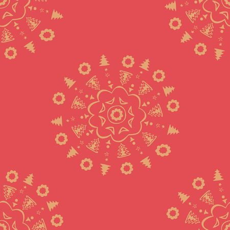 red decorative wallpaper  Vector