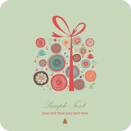 beautiful present  Vector