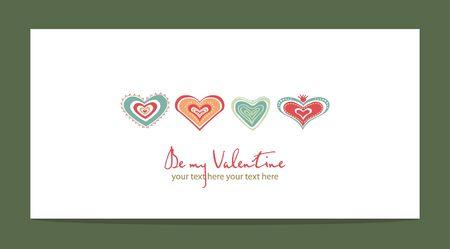 color hearts Vector
