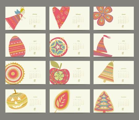 festive color calendar