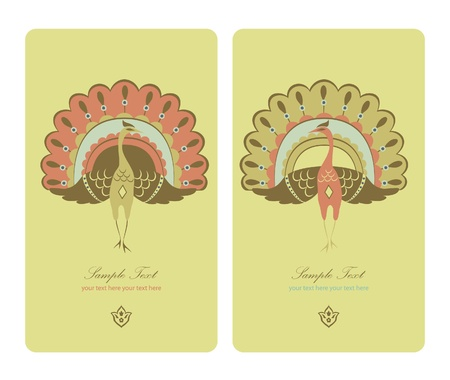 exotic decoration card  Vector