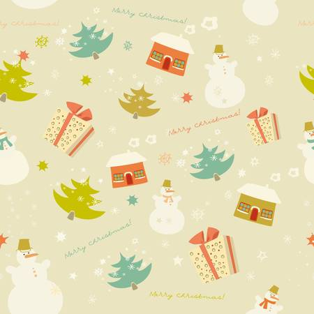 Colorful snow pattern backdrop Stock Vector - 11664058