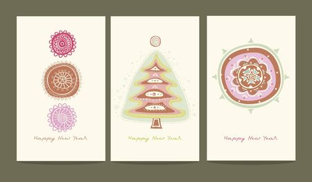 three greeting cards  Vector