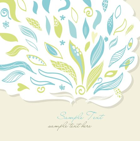flower card Stock Vector - 12491477