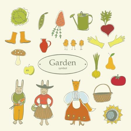 regando el jardin: s�mbolo de huerta