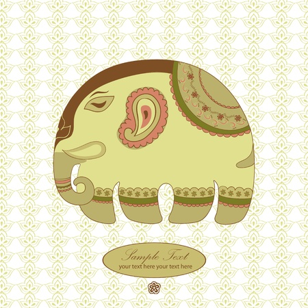 Indian elephant Stock Vector - 13933971