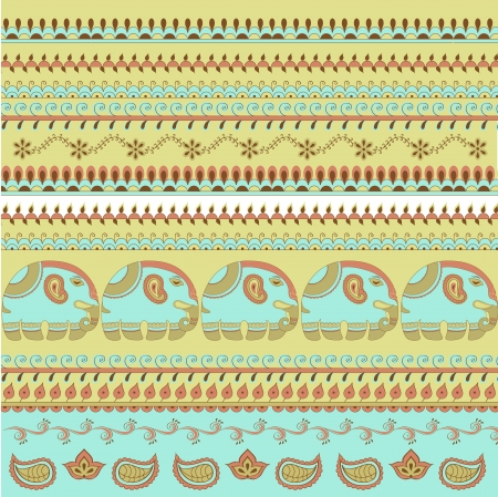 mehandi: Hand-Drawn Abstract Henna pattern