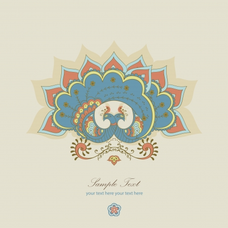visual art: magical blue  peacock