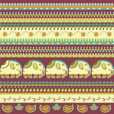 Indian motif fabric Stock Vector - 14010557