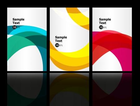 white background illustration: 3 business cards