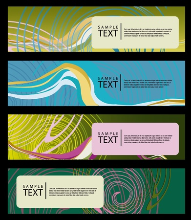 Smooth Waves  Dark Design Template for Masculine Designs EPS10 Vector Background  Vector