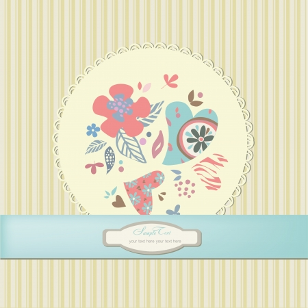 Romantic scrapbooking for invitation, greeting, happy birthday label, postcard frame, baby texture, child album, children pattern, holiday card, color gift,