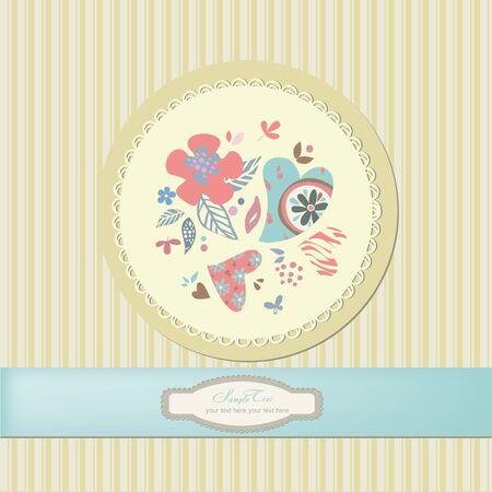 sertificate: Romantic scrapbooking for invitation  Illustration