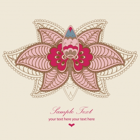 flowers lotus, vector floral illustration in vintage style