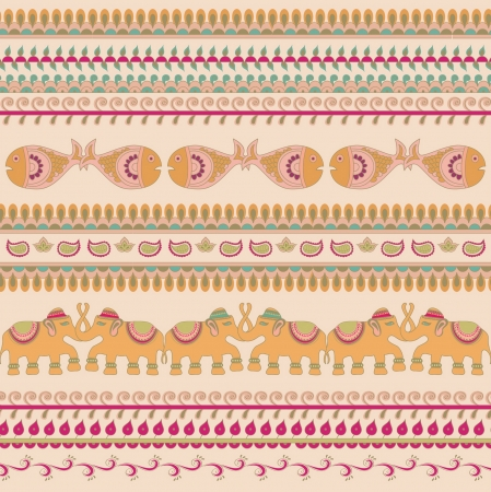 decoratively: Indian traditional patterns elephant