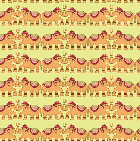specially: Indian traditional patterns elephant