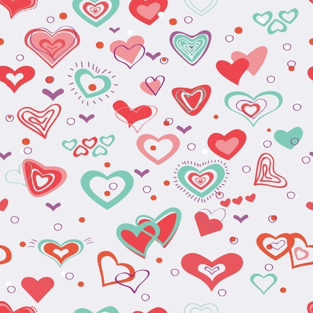Retro valentine seamless pattern with hearts Stock Vector - 17564223